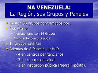 NA VENEZUELA:  La Región, sus Grupos y Paneles