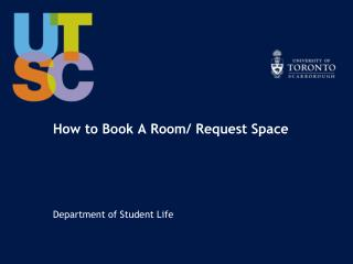 How to Book A Room/ Request Space