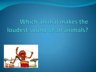 Which animal makes the loudest sound of all animals?