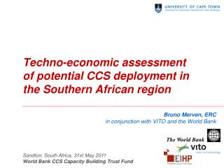 Techno-economic assessment of potential CCS deployment in  the Southern African  region