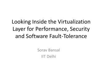 Sorav Bansal IIT Delhi