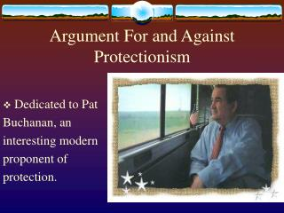 Argument For and Against Protectionism