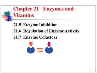 Chapter 21   Enzymes and Vitamins