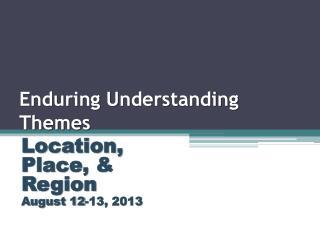 Enduring Understanding Themes