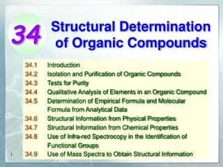 Structural Determination of Organic Compounds