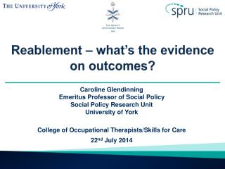 Reablement  – what's the evidence on outcomes?