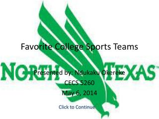 Favorite College Sports Teams