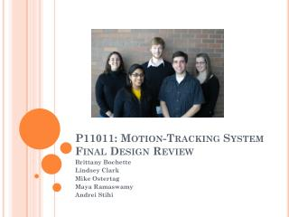 P11011: Motion-Tracking System Final Design Review