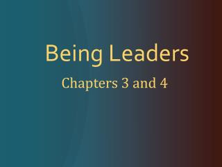 Being Leaders