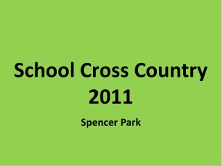 School Cross  Country  2011