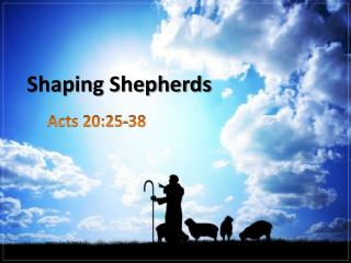 Shaping Shepherds