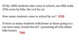 Of the 1800 students who come to school, one-fifth walk, 35% come by bike, the rest by car.