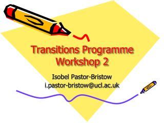 Transitions Programme Workshop 2