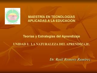Dr. Raúl Romero Ramírez