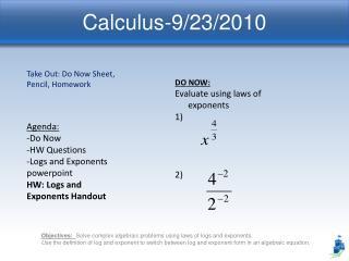 Calculus-9/23/2010