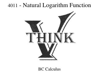 4011 - Natural Logarithm Function