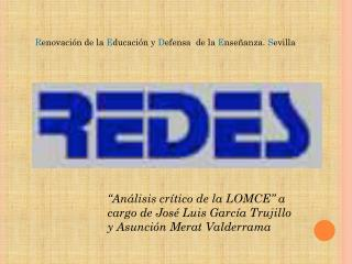 """""""Análisis crítico de la LOMCE"""" a cargo de José Luis García Trujillo y Asunción  Merat  Valderrama"""