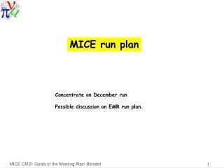 MICE  run  plan