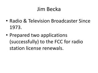 Jim  Becka