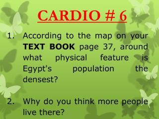 CARDIO # 6