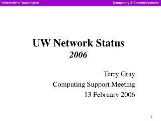 UW Network Status 2006