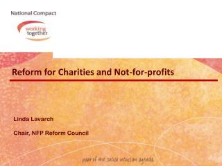 Reform for Charities and Not-for-profits
