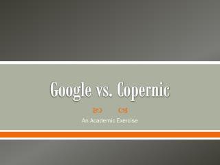 Google vs. Copernic