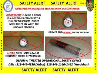 SAFETY ALERT      SAFETY  ALERT