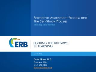 Formative Assessment Process and The Self-Study Process