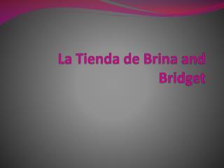 La  Tienda  de  Brina  and Bridget