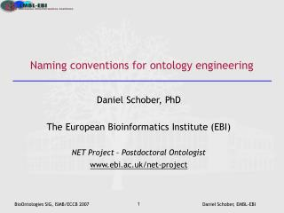 Naming conventions for ontology engineering