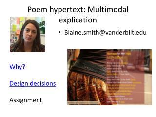 Poem  h ypertext: Multimodal explication