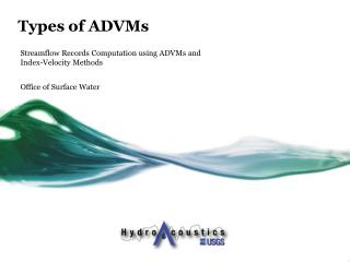 Types of ADVMs