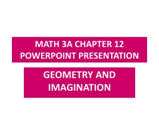 MATH 3A CHAPTER 12 POWERPOINT PRESENTATION
