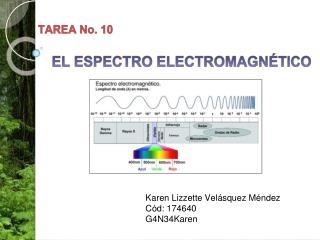 TAREA No. 10 EL ESPECTRO ELECTROMAGNÉTICO