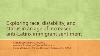 The Disproportionate Placement of Culturally Diverse Students in Special Education
