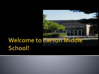Welcome to Carson Middle School!