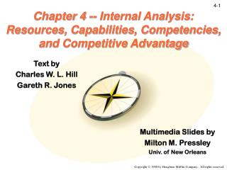 Chapter 4 -- Internal Analysis:  Resources, Capabilities, Competencies, and Competitive Advantage