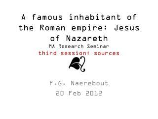 F.G. Naerebout 20 Feb 2012