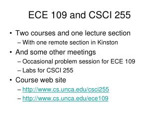 ECE 109 and CSCI 255