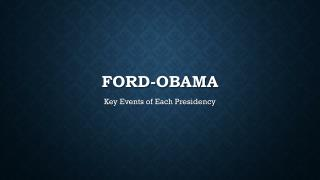 Ford-Obama