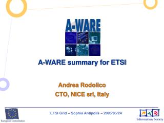 A-WARE summary for ETSI