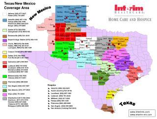 Texas/New Mexico Coverage Area