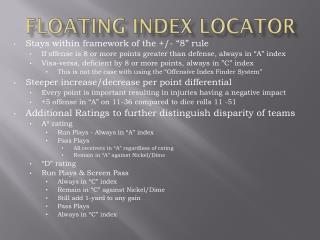 floating index locator