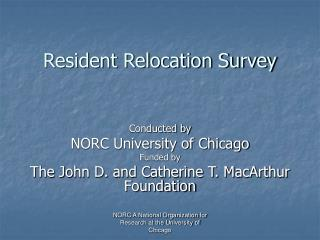 Resident Relocation Survey