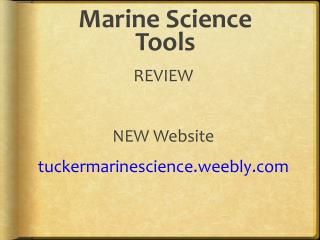 Marine Science Tools