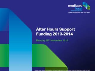 After Hours Support Funding 2013-2014