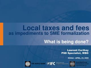 Local taxes and fees as impediments to SME formalization