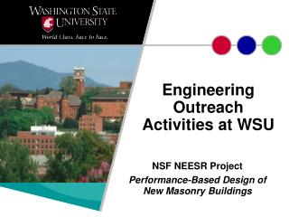 Engineering Outreach Activities at WSU