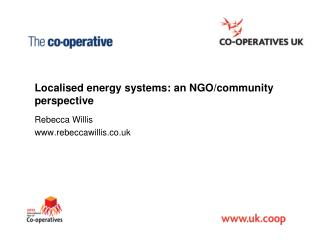 Localised  energy systems: an NGO/community perspective